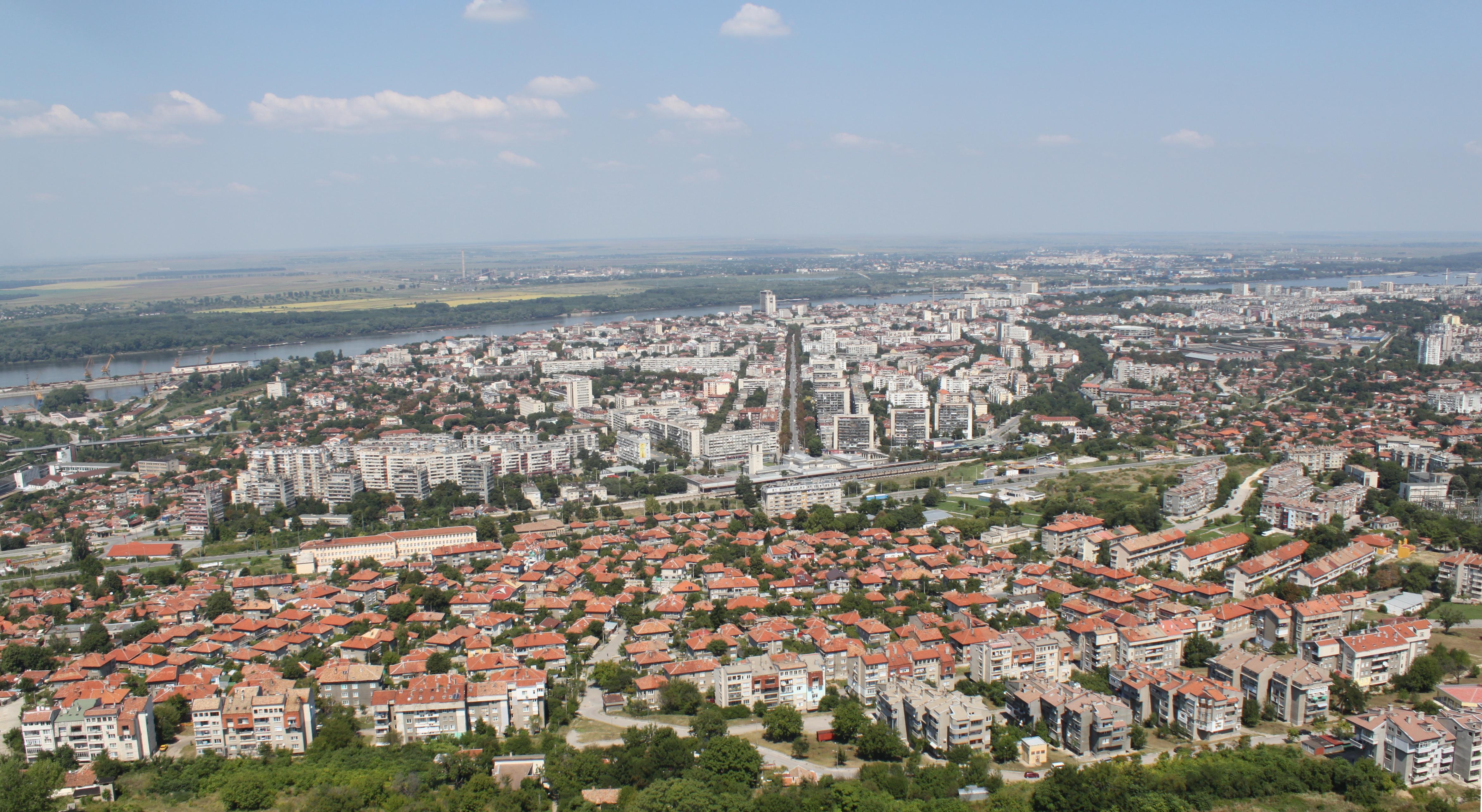 Поглед от високо към град Русе