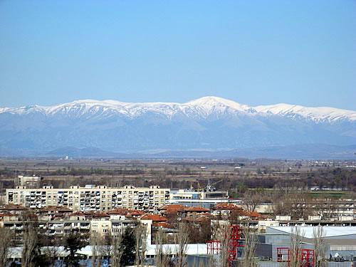 изглед от Пловдив към Стара планина