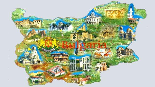 карта на България- забележителности